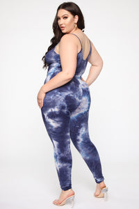 Nova Season Tie Dye Jumpsuit - Navy