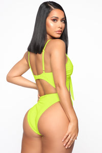 Royally Tied Swimsuit - Neon Yellow