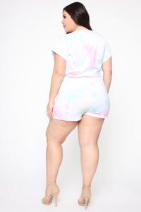 Jump Into It Tie Dye Romper - Multi Angle 8