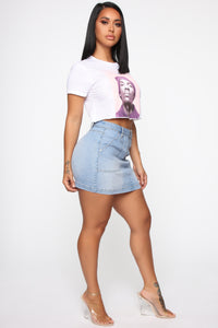 Snoop Dogg Crop Top - White