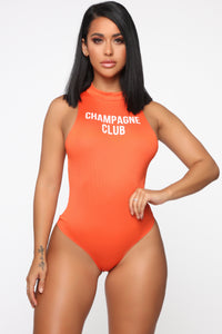 Champagne Club Bodysuit - Orange
