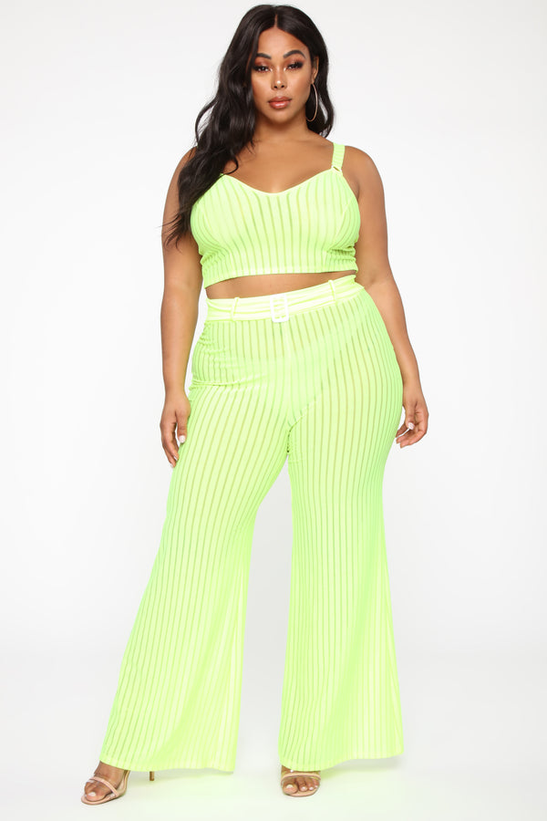 f580e62d Get Over You Pant Set - Lime