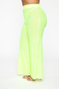 Get Over You Pant Set - Lime