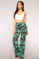 Virginia High Waisted Dress Pants - Black/Green