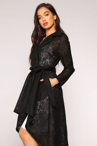The Little Things Lace Coat - Black