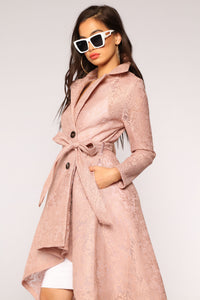The Little Things Lace Coat - Mauve