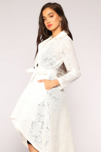 The Little Things Lace Coat - White
