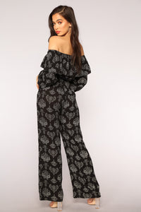 First Names Only Boho Jumpsuit - Black