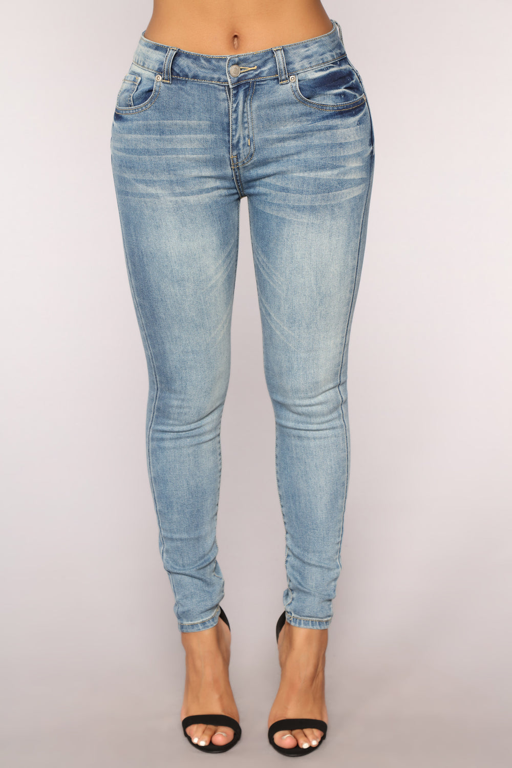 Constance High Rise Ankle Jeans - Medium Blue Wash