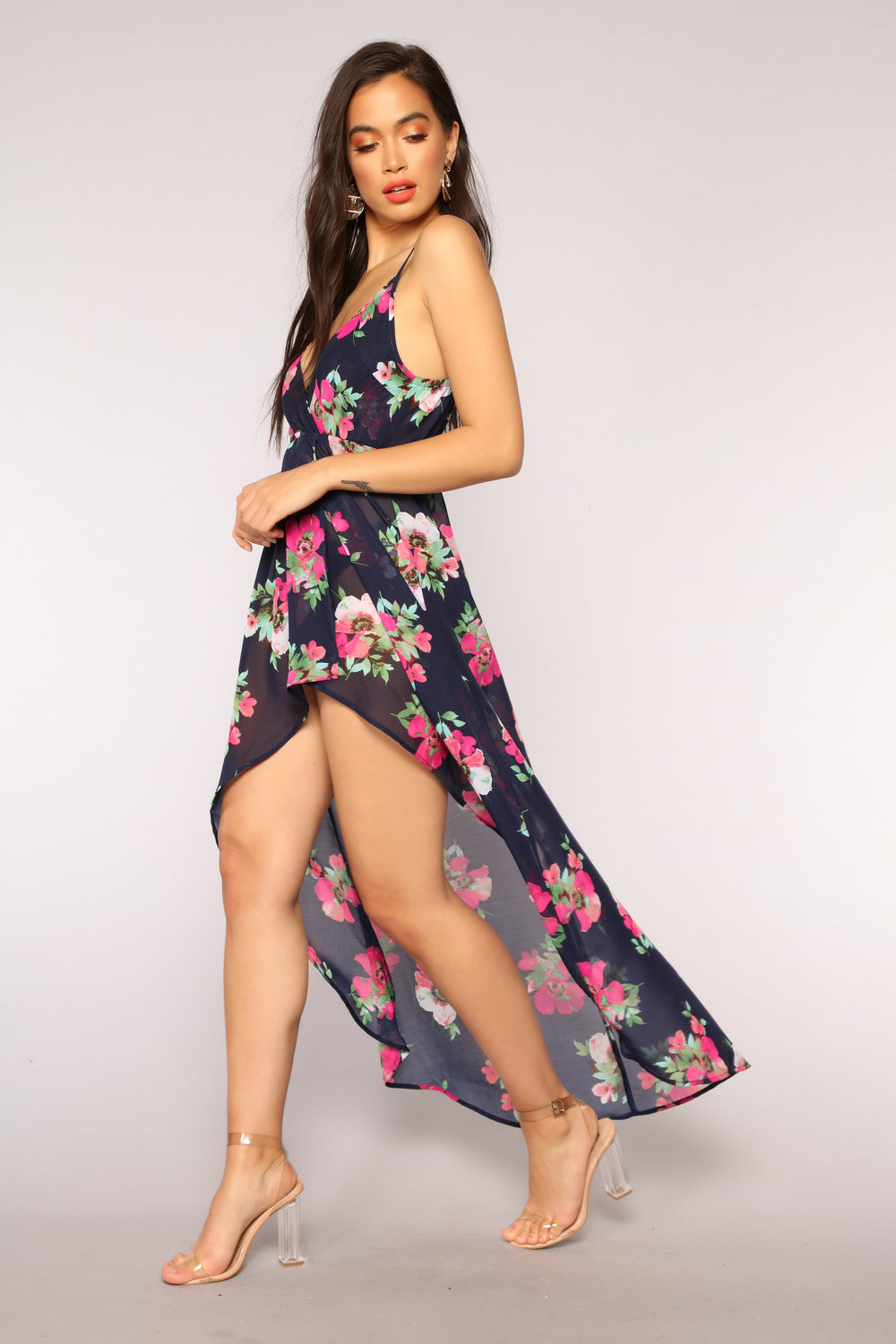 Vacation Spot Cover Up Dress - Navy/combo
