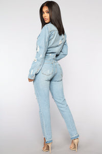 High Jump Denim Jumpsuit - Medium Denim
