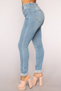Girl Of Your Dreams Skinny Jeans - Medium Blue Wash
