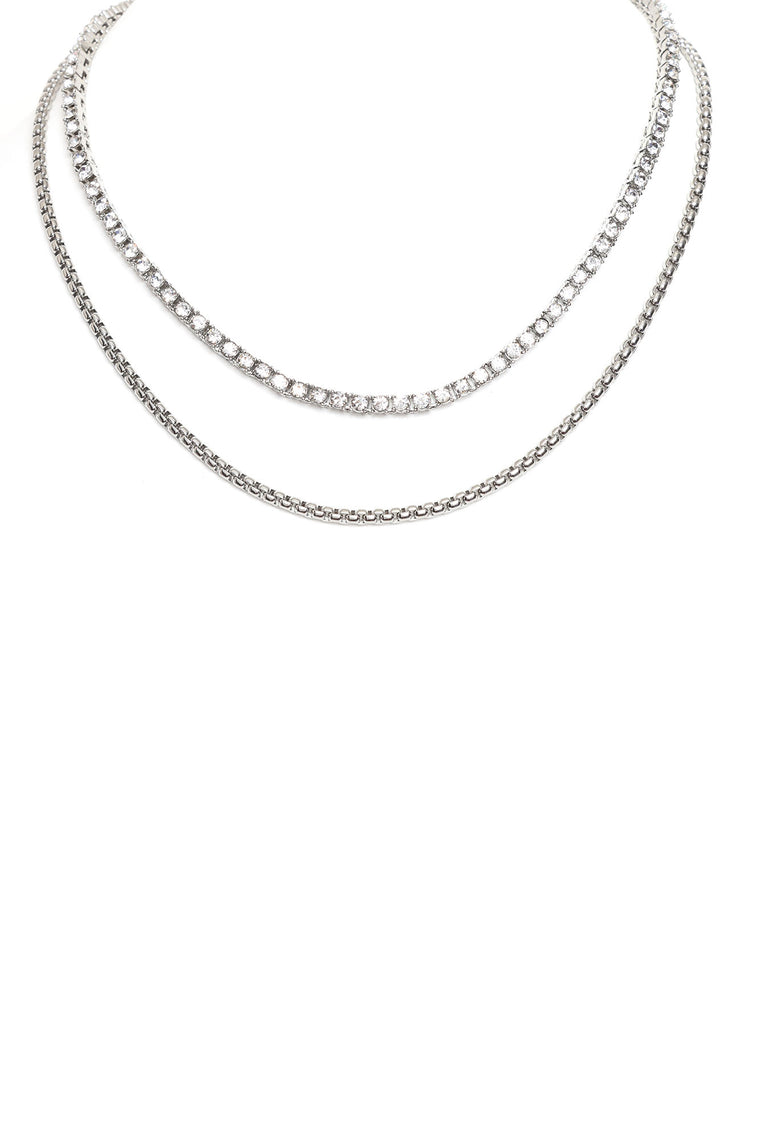 The Iconic 2 Piece Chain Set - Silver