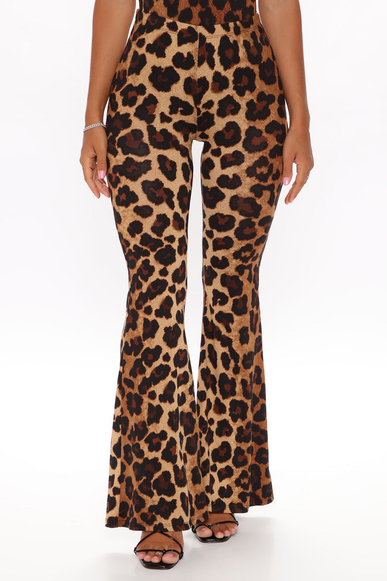 Looks Can Be Deceiving Leopard Pant - Brown/combo