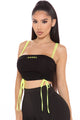 Pulling Strings Angel Tank Top - Black/Yellow