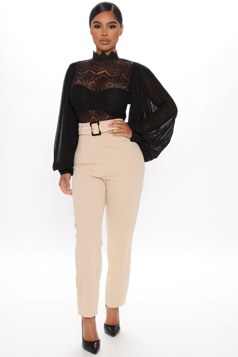 The Pleat Is On Blouse - Black