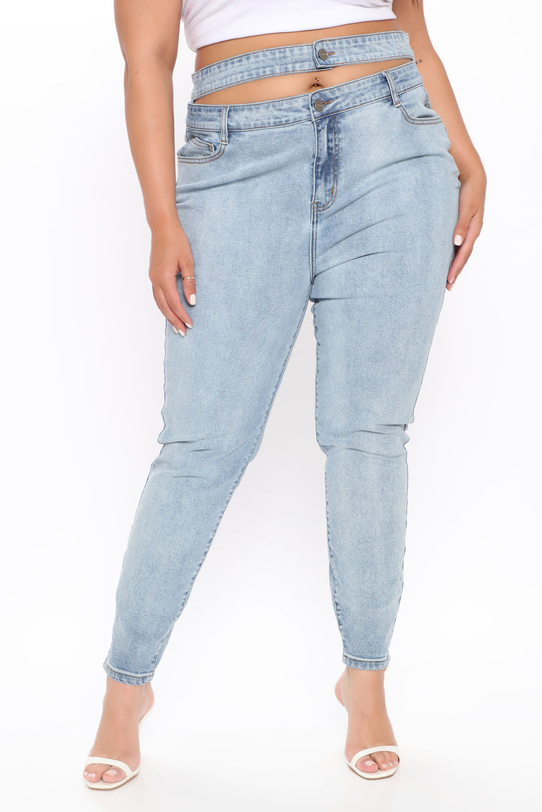 Do A Double Take Skinny Jeans - Light Blue Wash