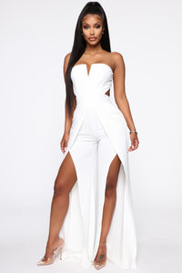 Parting Ways Jumpsuit - White