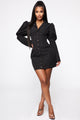 She Is Victorious Mini Dress - Black