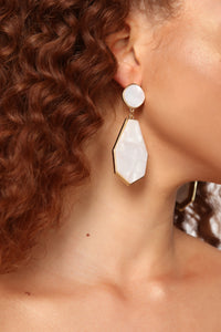 Full Grown Earrings - Gold/Ivory