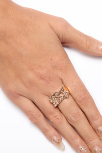 Bling Bling Chunky Ring - Gold Angle 2