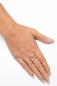Bling Bling Chunky Ring - Gold Angle 4