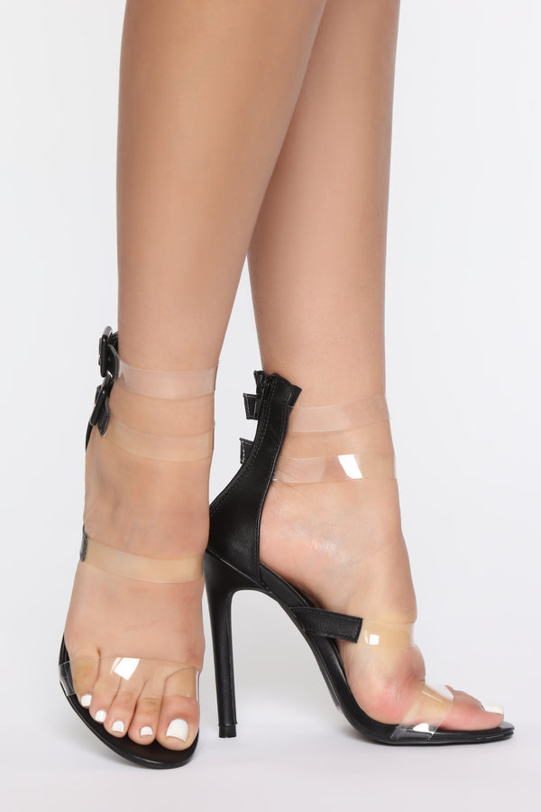 96b221a07f Only For The Show Heeled Sandals - Black
