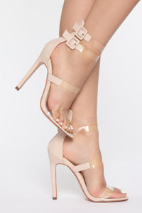 Only For The Show Heeled Sandals - Nude