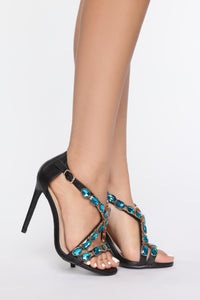 Breaking Expectations Heeled Sandal - Black Angle 1