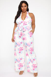 Carolina Jumpsuit - White/Combo Angle 5