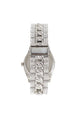 Broken Hearted Bling Solitaire Watch - Silver/Black