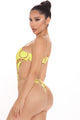 Miami Chains 2 Piece Sunsuit Set - Yellow/combo