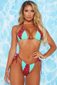 Poolside Bar 2 Piece Bikini - Red