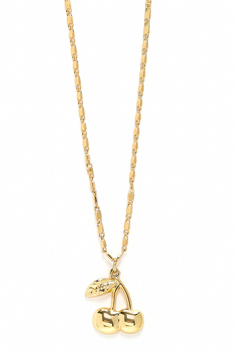 Cherry Pop Pendant Necklace - Gold