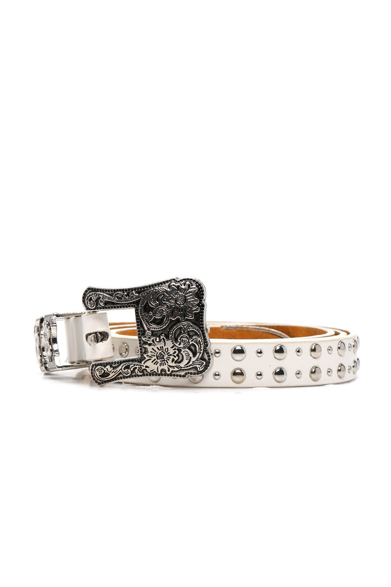 The West Of Me Belt - White