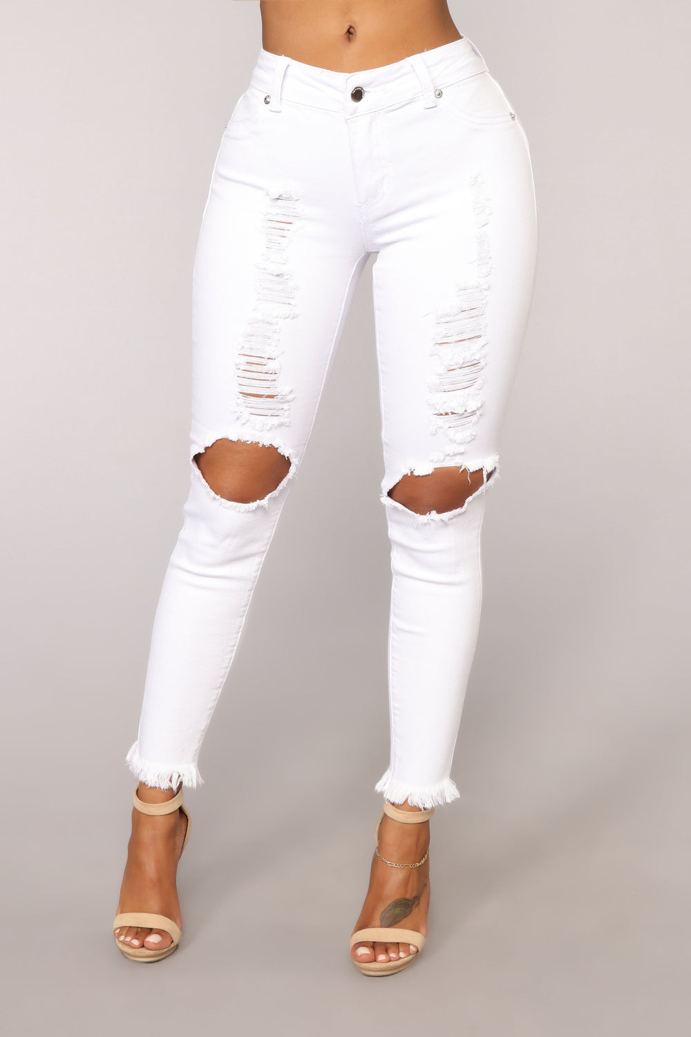 The Other Bailey Distressed Jeans - White