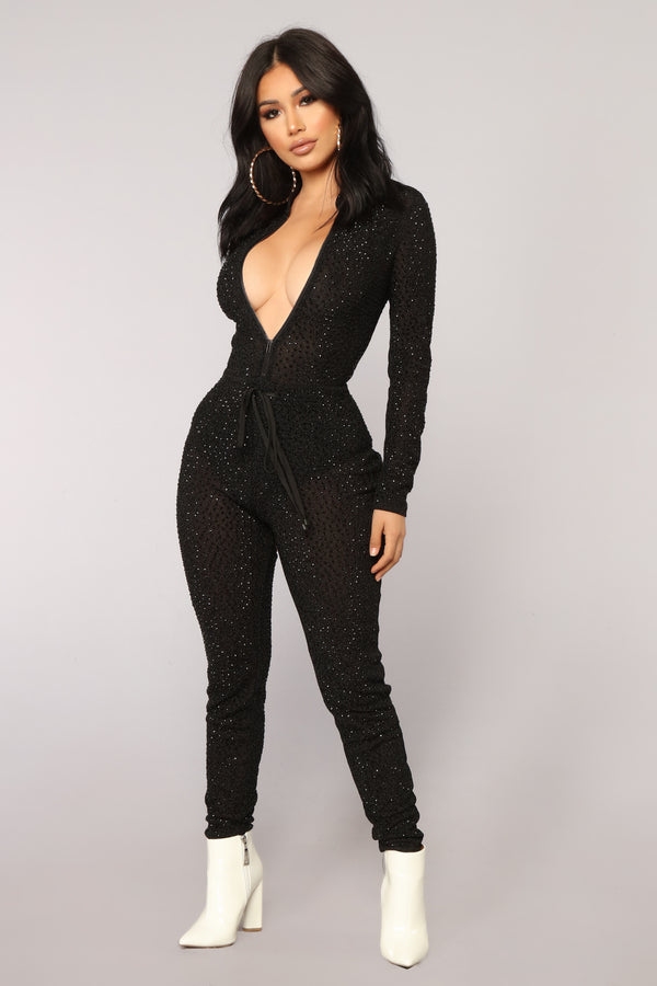 0307ab9a9a88 His Loss Studded Jumpsuit - Black