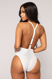 Not So Covered Swimsuit - White