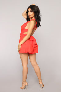 Want It That Way Multi Way Romper - Red