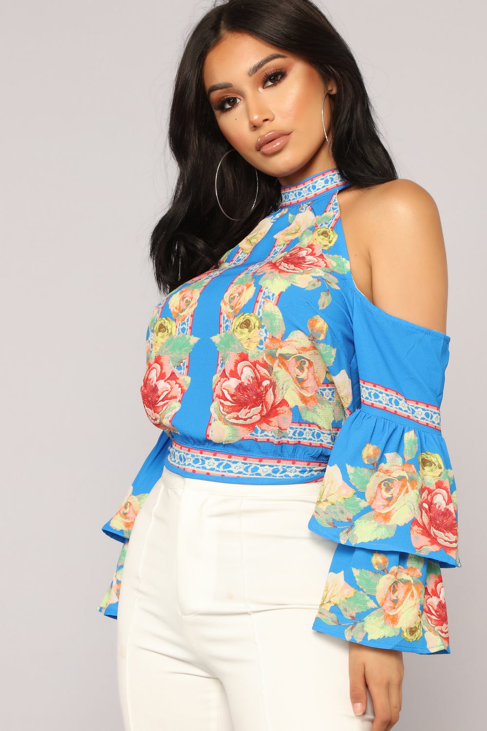 Taking My Sweet Time Floral Top - Blue/Combo