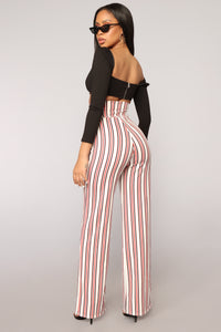 Breanna Wide Leg Pants - White