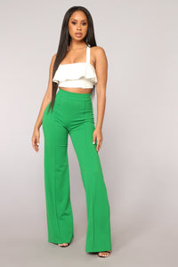 Victoria High Waisted Dress Pants - Kelly Green