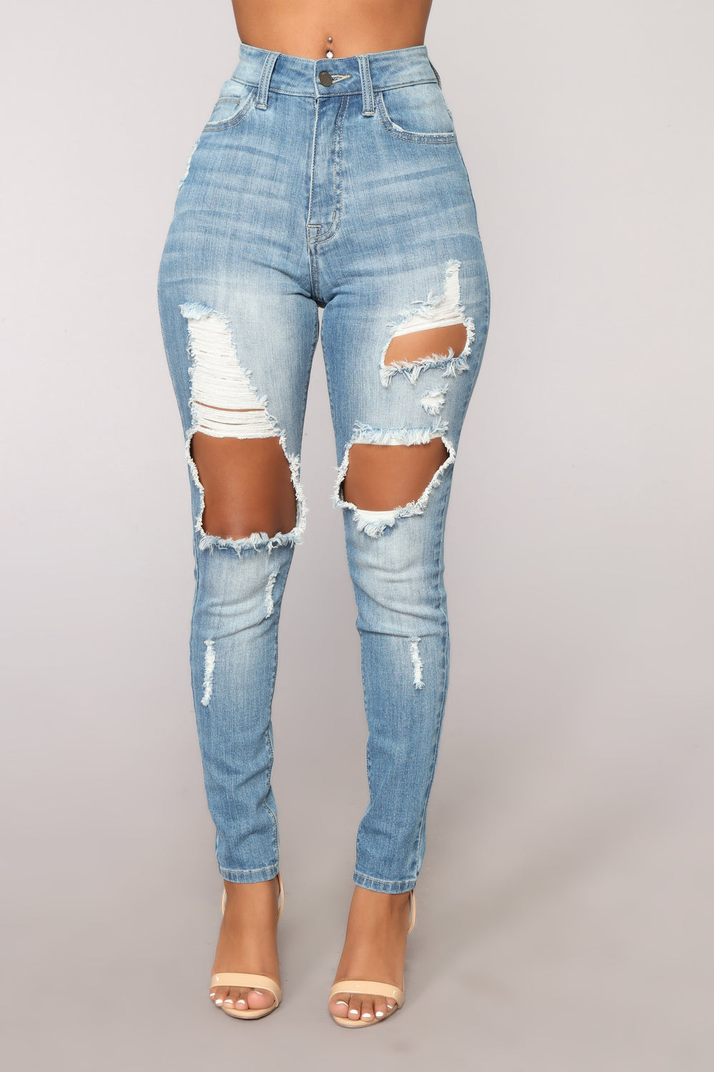 Envy Me Skinny Jeans - Medium Blue Wash