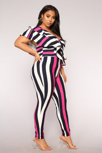 Lookin' Good Jumpsuit - Fuchsia