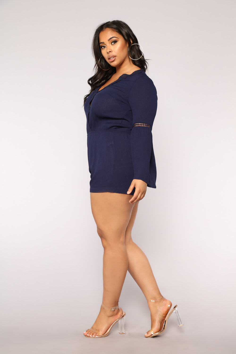 Open & Airy Romper - Navy