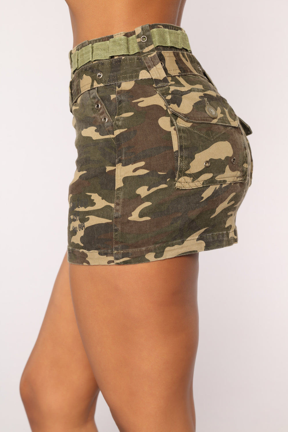 Dana Camo Denim Skirt - Camo