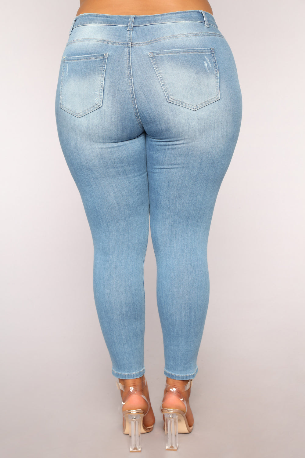 Phoebe II Supersoft Skinny Jeans - Light Blue Wash
