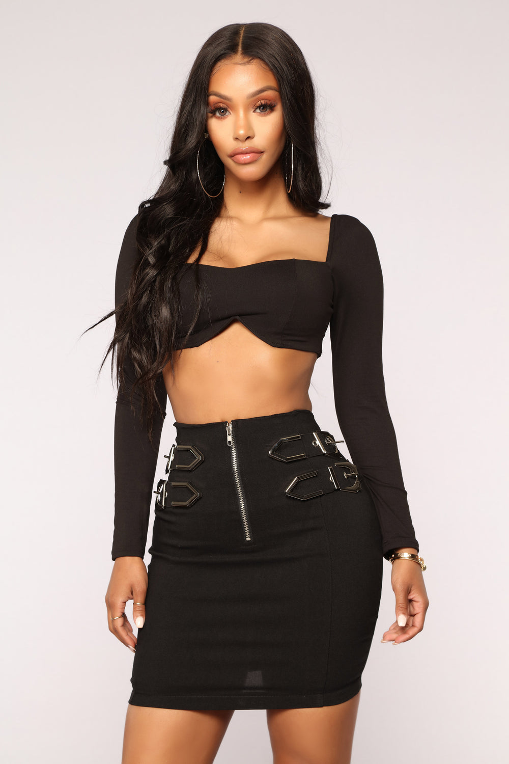 Buckle Up Buttercup Skirt - Black