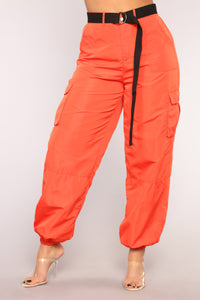 Trippin' Over You Joggers - Orange