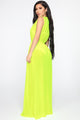 Sprung In The Sun Swim Cover Up Dress - Neon Yellow